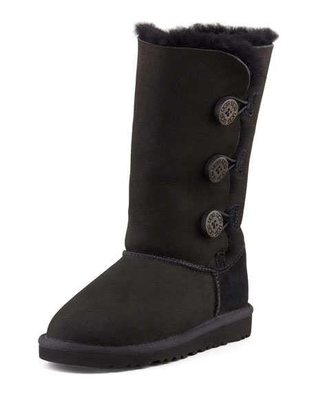 Bailey Button Tall Boot, Black, Youth