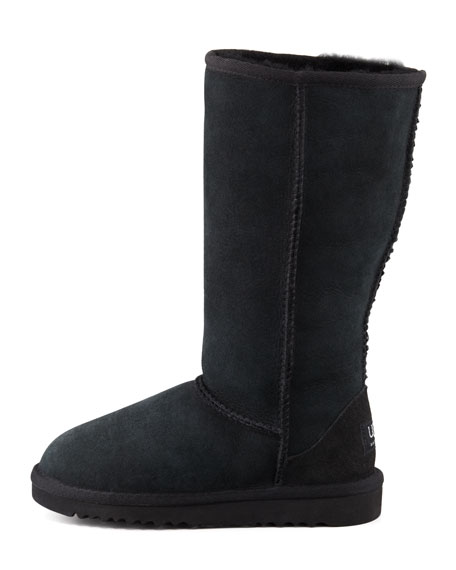 Classic Tall Boot, Black, Youth