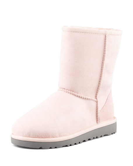 Classic Short Boot, Baby Pink, 13T-4Y