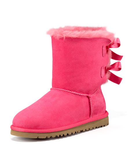 UGGBailey Bow-Back Boot, Pink, 5-6Y
