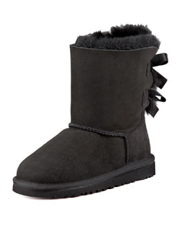 UGG Australia Bailey Bow Boot, Black, 5-6Y