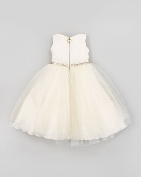Gold Record Tulle Party Dress, Sizes 2-6