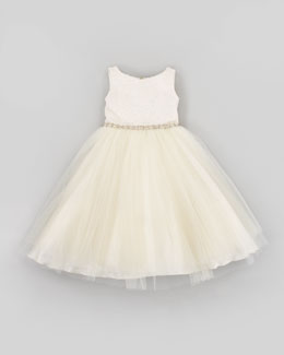 Zoe Gold Record Tulle Party Dress, Sizes 2-6