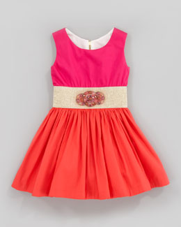 Zoe Orange Sunset Dress, Sizes 2-6