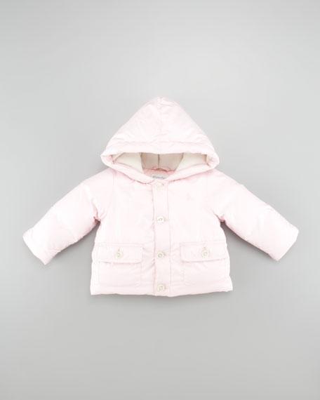 Luxury Down Convertible Snowsuit, Pink, 3-9 Months