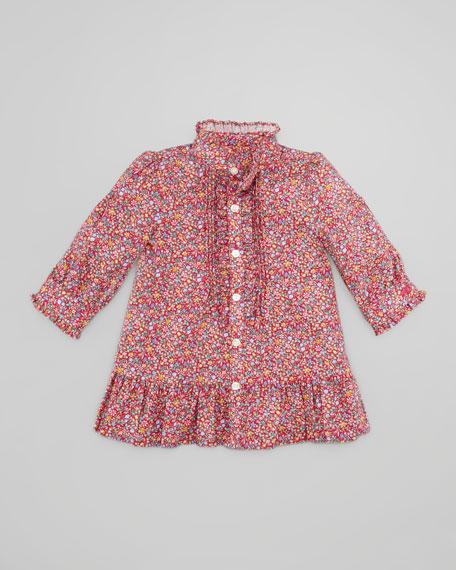 Floral-Print Twill Dress, 3-9 Months