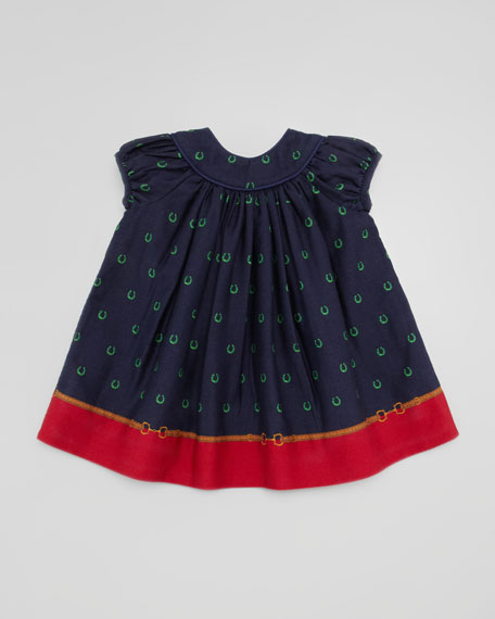 Border Horseshoe-Print Dress, 9-24 Months