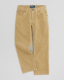 Ralph Lauren Childrenswear Fine-Wale 5-Pocket Corduroy Pants, Burmese Tan, Sizes 2-3