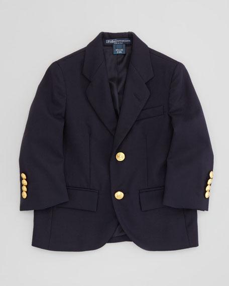 Two-Button Blazer, Navy, 4-7