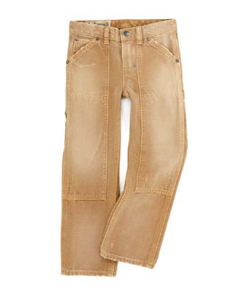 Ralph Lauren Childrenswear Boonsville Wash Slim-Fit Carpenter Jeans, Sizes 2-3