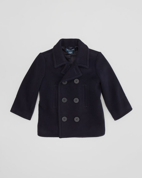 Naval Pea Coat, RL Navy, Sizes 4-7