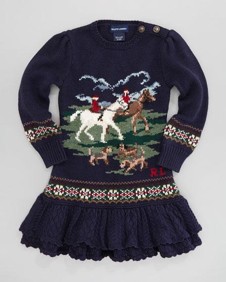 Equestrian Sweaterdress, Sizes 2T-3T