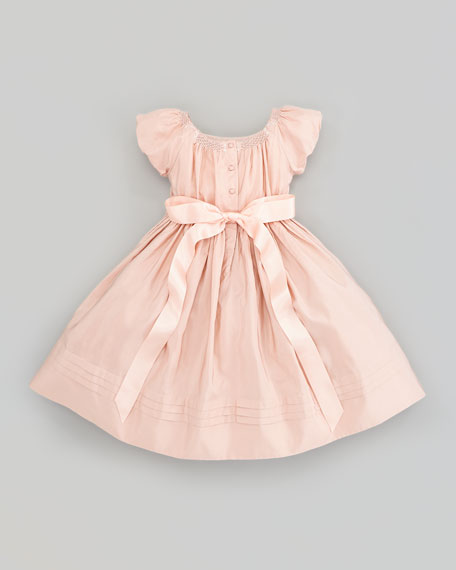 Taffeta Smocked Dress, Sizes 2T-3T