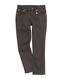 Ralph Lauren Childrenswear Bowery Skinny Jeans, Caldwell Wash, Sizes 4-6X