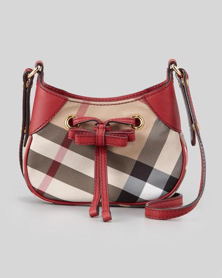Girls Check Hobo Crossbody Bag