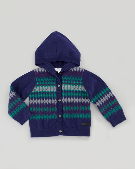 Infant Boys' Fair Isle Knit Cardigan, 18M - 4Y
