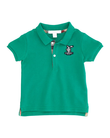 Infant Boys' Check-Trim Polo, Garnet Green, 18M-2Y