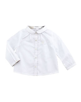 Burberry Infant Girls' Poplin Blouse, White