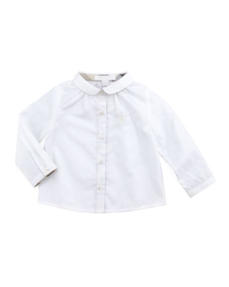 Infant Girls' Poplin Blouse, White