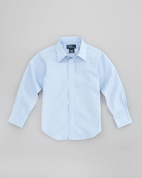 Lowell Long-Sleeve Dress Shirt, Elite Blue, Sizes 4-7
