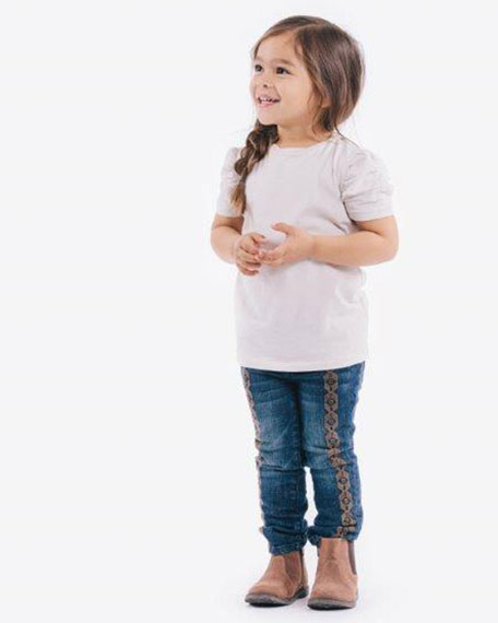 Spring Night Straight-Leg Jeans, Sizes 2T-3T