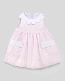 Florence Eiseman Plain Scalloped Pincord Dress, 3-9 Months