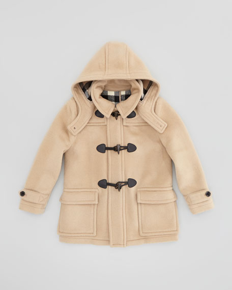 Burberry Boys' Wool Duffle Coat, Camel