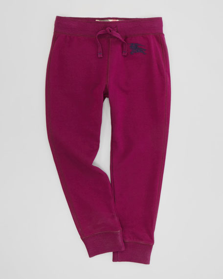 Girls' Track Pants, Magenta, 4Y-10Y