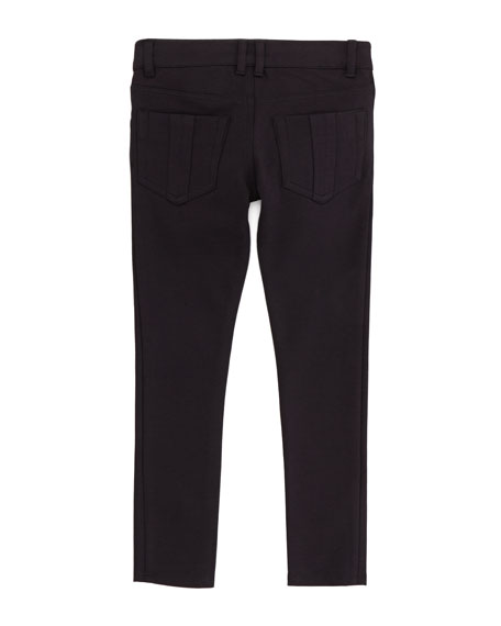 Girls' 5-Pocket Leggings, Black, 4Y-10Y