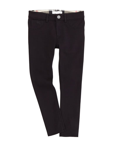 Burberry Girls' 5-Pocket Leggings, Black, 4Y-10Y