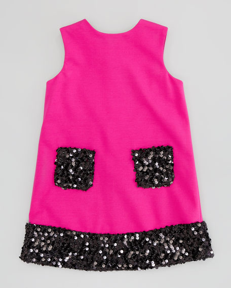 Daphne Combo Sequin Dress, Pink, 8-10
