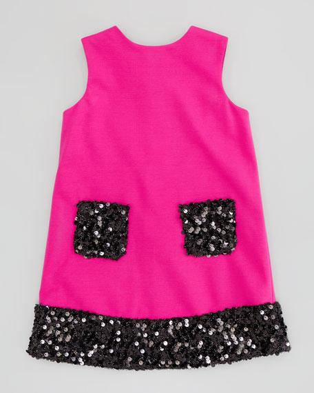 Daphne Combo Sequin Dress, Pink, 8-10