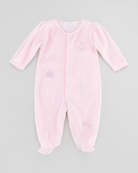 Enchanted Baby Velour Footie Playsuit