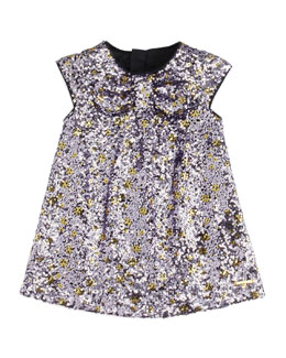 Little Marc Jacobs Sequin Shift Dress, Purple, 3-18 Months