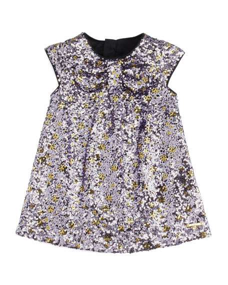Sequin Shift Dress, Purple, 3-18 Months