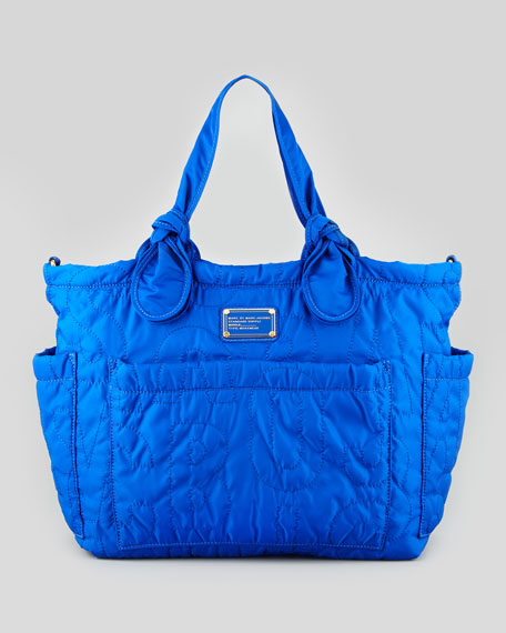 Pretty Nylon Eliz-A-Baby Diaper Bag, Bauhaus Blue
