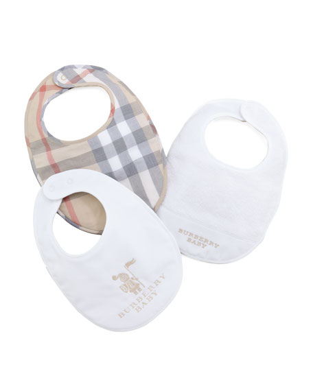 Newborn Bib Gift Set, White