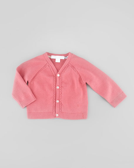 Infant Girls' Button-Font Knit Cardigan, Camelia