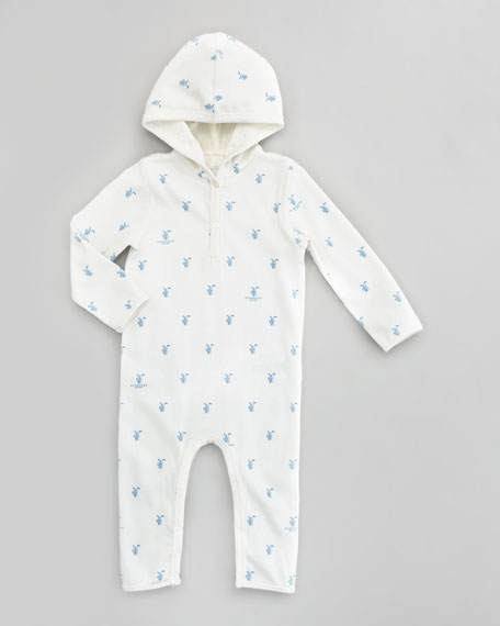 Equestrian Knight Newborn Coveralls, Off-White