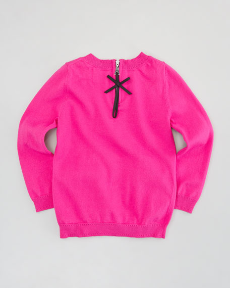 Bow Knit Pullover Sweater, Sizes 8-10