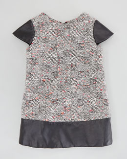 Milly Minis Rachel Combo Shift Dress, Multi, Sizes 2-6