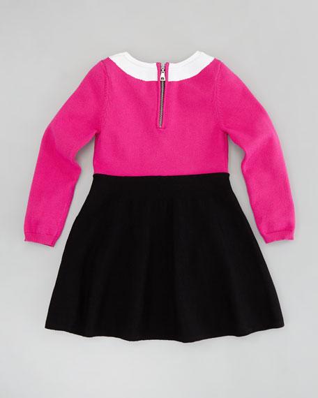 Amanda Collar Dress, Pink/Black, Sizes 2-6/7