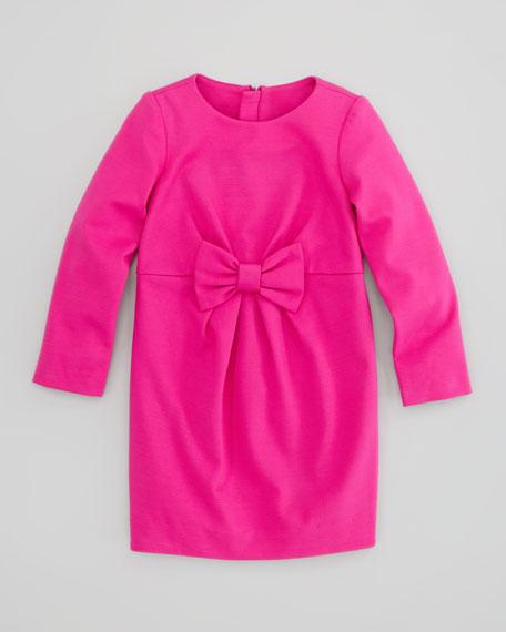 Blair Bow Ponti Dress, Pink, Sizes 2-6