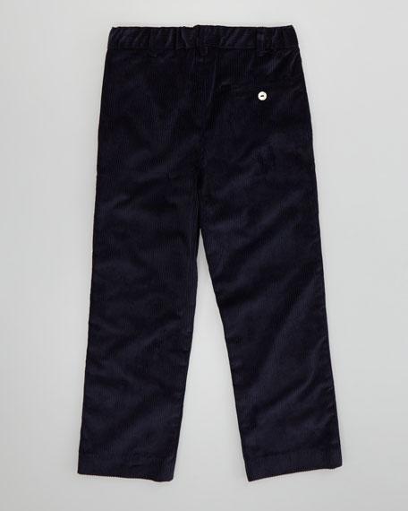 Boys' Classic Corduroy Pants, Navy