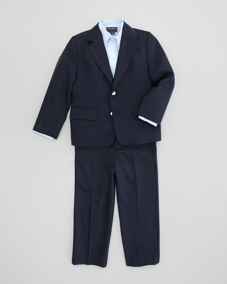 Boys' Classic Pants, Navy, Sizes 4Y-10Y