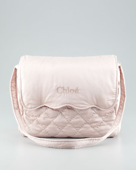 Quilted Diaper Bag, Pink