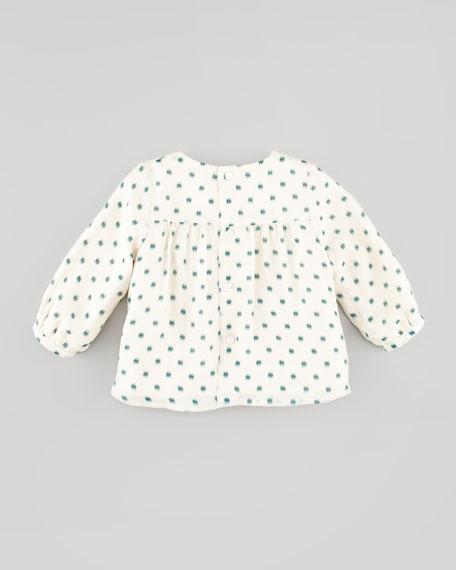 Printed Silk Blouse, 3-18 Months