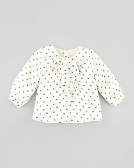 Printed Silk Blouse, 6Y-10Y
