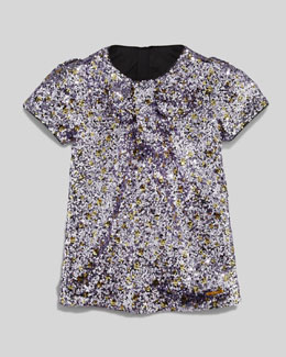 Little Marc Jacobs Sequin Shift Dress, Purple, Sizes 2-5