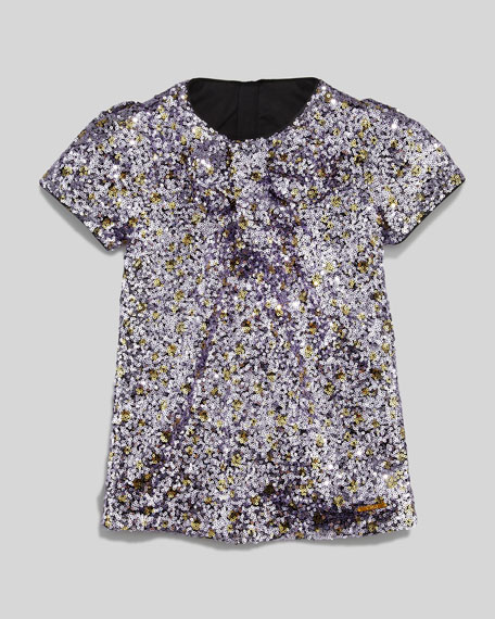 Sequin Shift Dress, Purple, Sizes 2-5